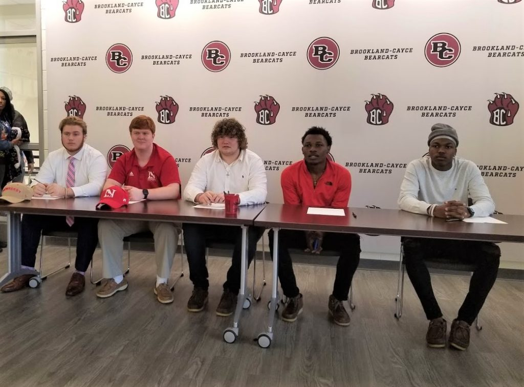 5 Brookland-Cayce athletes sign to play football in college