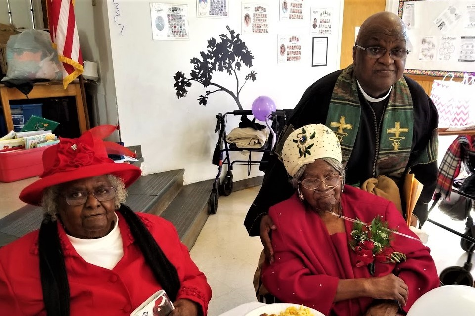 "103rd Birthday party held for Rebecca ""Fannie"" Dawkins at Turner AME Church, Sunday"