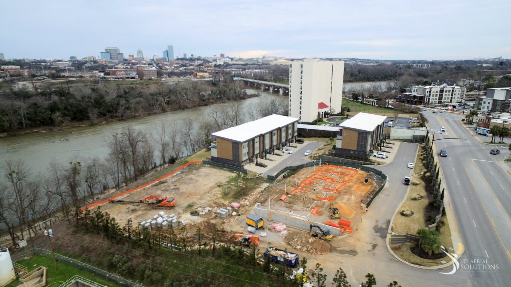 Flow Riverfront Townhomes publishes photos of build site