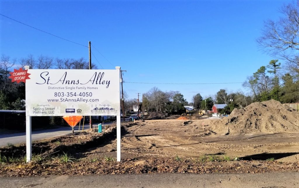 Construction on 34 West Columbia St. Anns Alley homes has begun – Photos