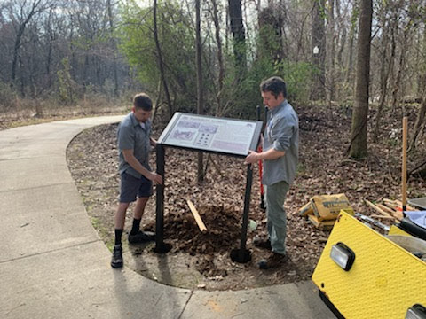 New signs installed in Cayce's 12,000 Year History Park