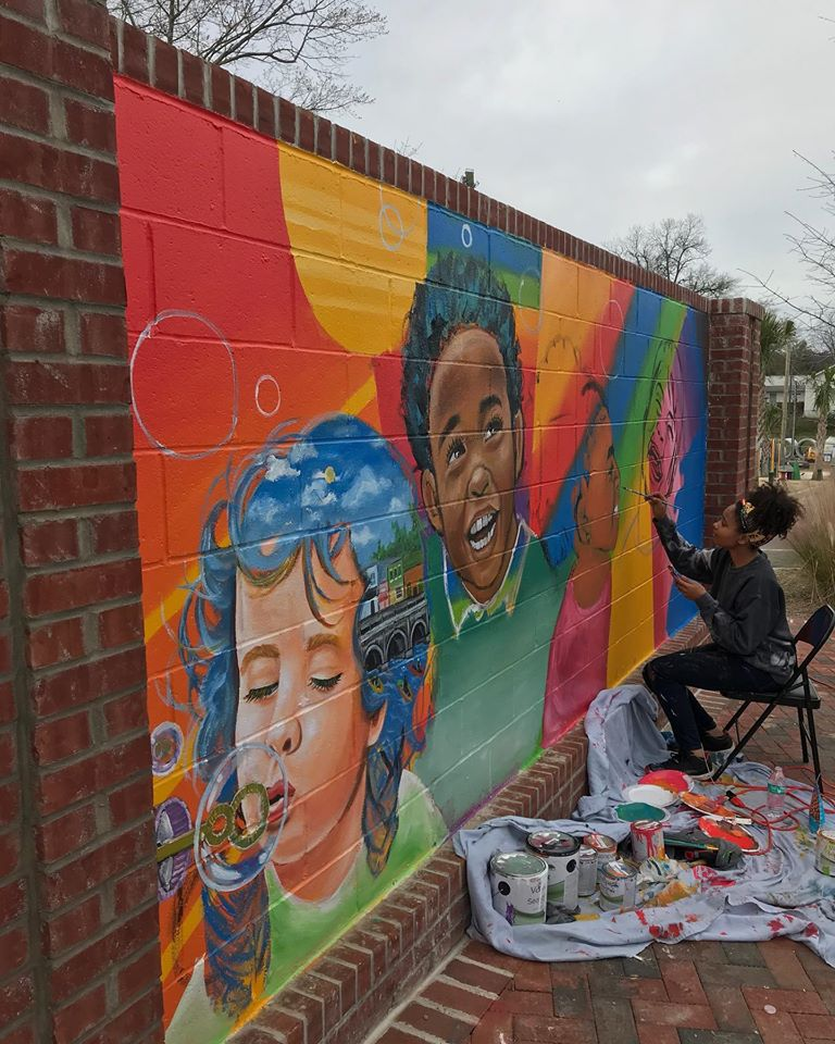 New mural in West Columbia's Art Park