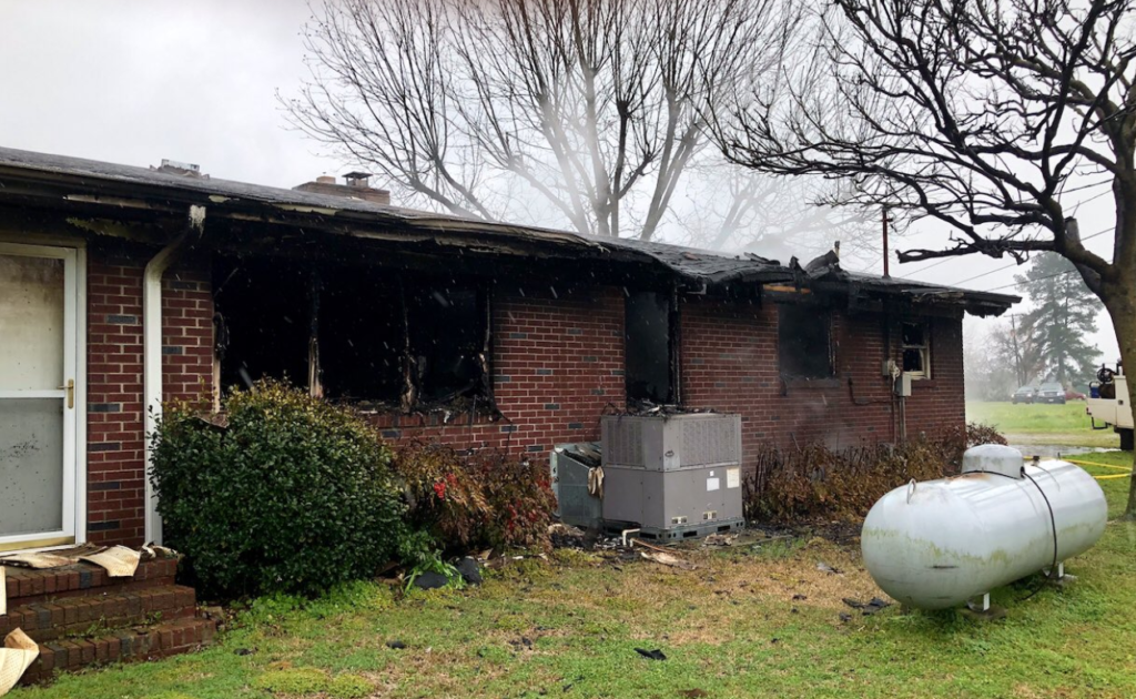 Fire damages house in Lexington County