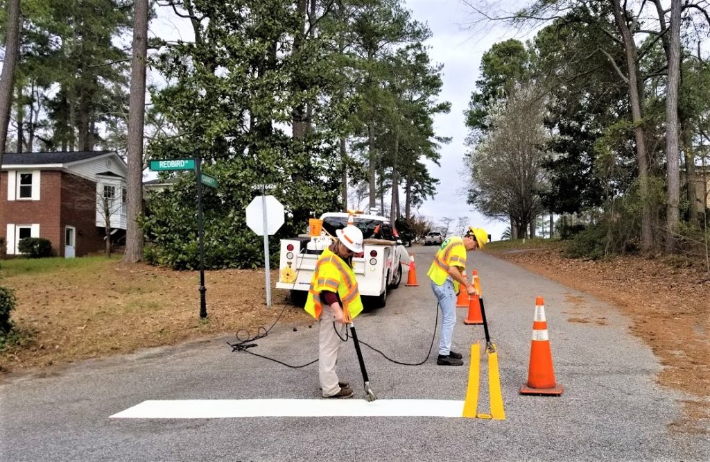 SC DOT street work going on in Westover Acres