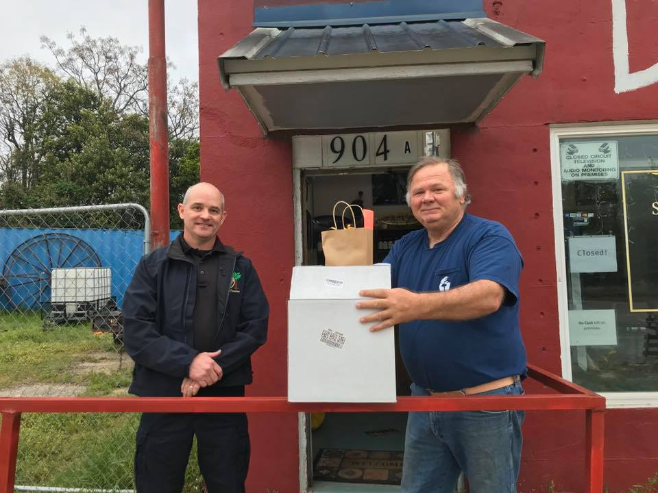 Southern Essence Distilling donates hand sanitizer to West Columbia Police and Fire Departments