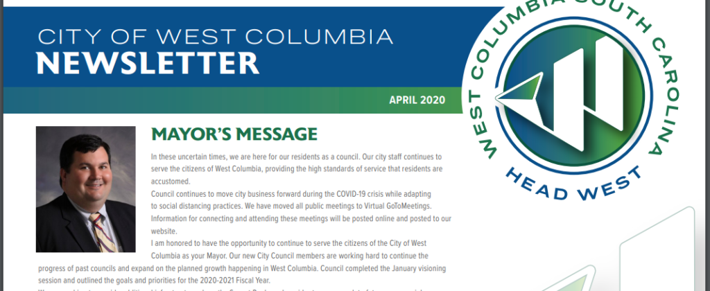 City of West Columbia releases its latest Newsletter
