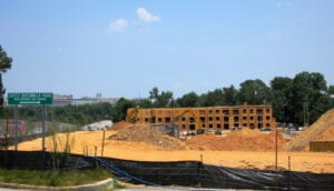 Construction continues on the new One Eleven Apartment development on Knox-Abbott Drive in Cayce.
