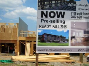 There will be more than 30 Flow townhouses on the river.